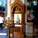 В притворе Храма Святого апостола Тита икона Святого Николая Чудотворца