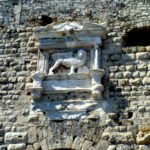 Изображение льва на стене крепости Кулес