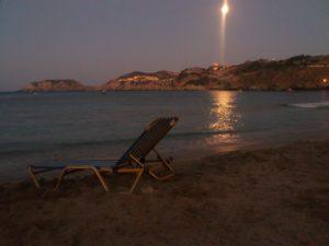 Агия Пелагия, плаж вечером