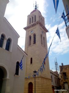 Вид на колокольню со стороны собора