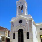 Общий вид с колокольней храма Госпожа Ангелов
