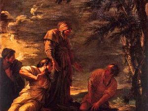 Проотагор (крайний справа), фрагмент картины Сальватора Розы
