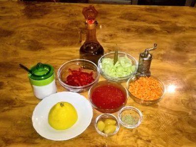 Ингредиенты для факеса с томатом