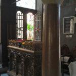 Свечной столик внутри храма