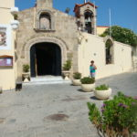 Дорога к храму Святого Пантелеймона в Родосе