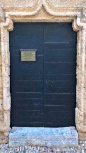 Дверь Храма Святой Параскевы в Родосе