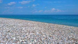 Восточный берег и Средиземное море мыса Родоса