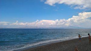 Эгейское море и западный берег мыса Родоса