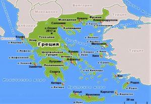 Древняя Греция на карте