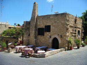 Родос, Старый город, кафе