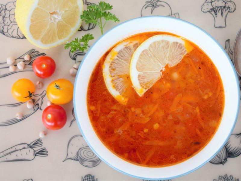 Суп с нутом - фото
